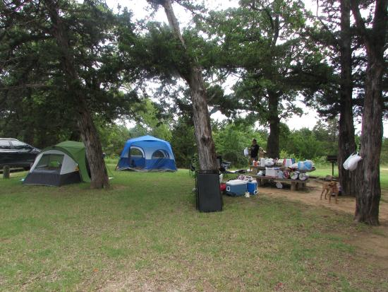 Lake Murray State Park & Lodge: Our Campsite at Rock Tower