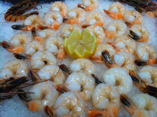 Captain Kidd Restaurant : Shrimp at the Raw Bar