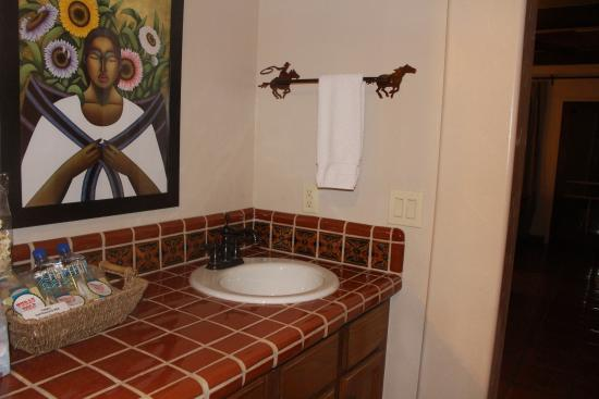 Tubac, AZ: View from the bath - great tile work!