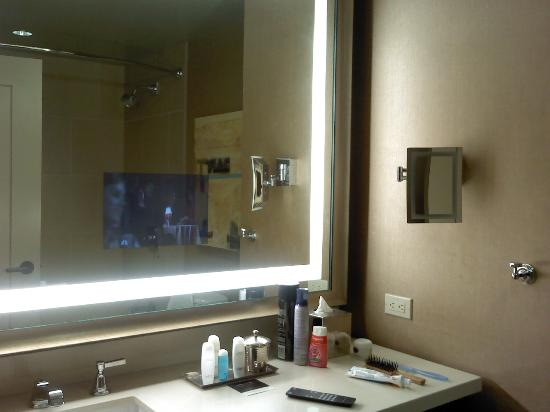 Bathroom Mirrors Dallas bathroom with tv built into the mirror - picture of omni dallas