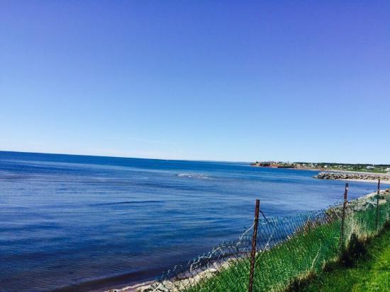 Grande-Riviere, Canada: Vu de la piscine du motel