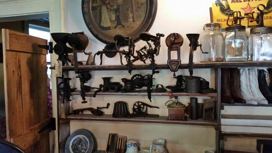 The Oldest Store Museum: Old Machinery on Display - Notice Ladies' Shoes to the Right