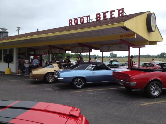 Dog'n Suds: Hot Rod Power Tour 2015 -informal lunch stop
