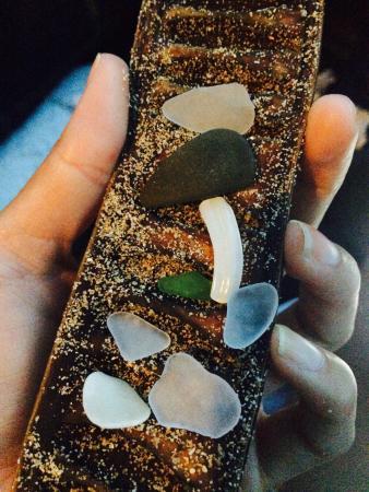 Sandy Beach: Sea glass treasures