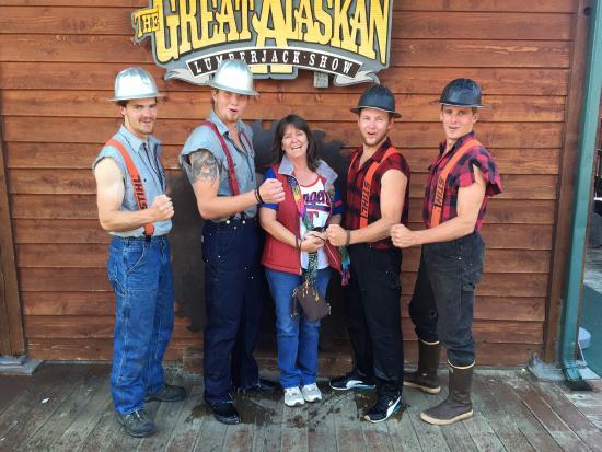 2eca5664310b Great Alaskan Lumberjack Show  Lumberjacks!! Cast in motion