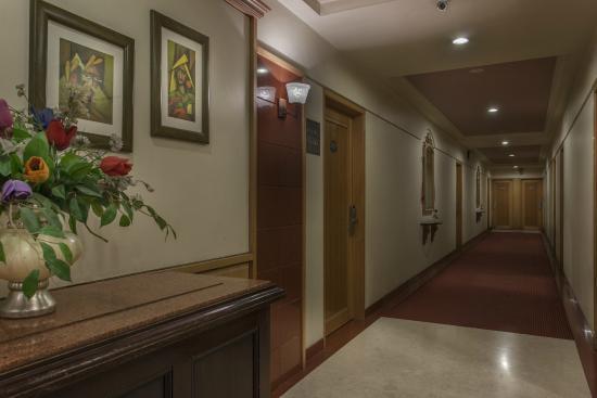 Hotel Shree Panchratna: Room Corridors