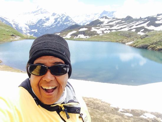"""On top of """"Firs"""" in Grindelwald and views, hiking the way down."""