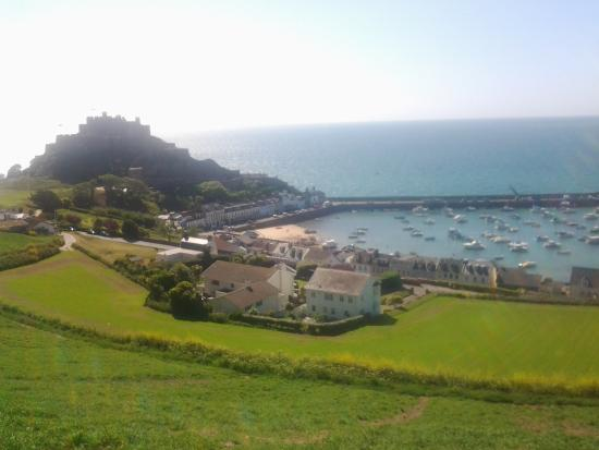 Jersey Accommodation and Activity Centre: overlooking Gorey from near hostel
