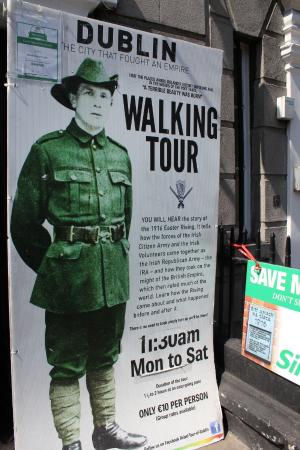 Rebel Tour of Dublin: The City That Fought an Empire : Advertisement for tour outside of 58 Parnell Square