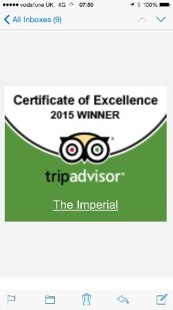 The Imperial: 2015 winner