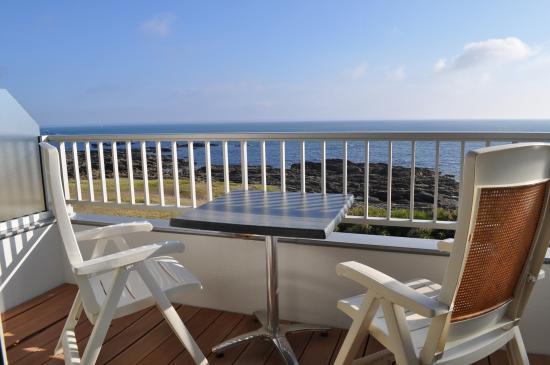 Hôtel La Petite Sirène : Chambre vue mer