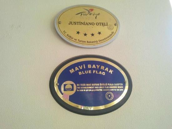 Justiniano Club Alanya: Голубой флаг за лучший пляж на побережье