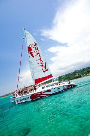 Island Routes Caribbean Adventures Montego Bay: Red Dread Reggae or Lover's Rock Catamaran Cruise at Island Routes Jamaica