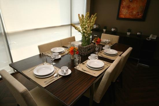 The Place Corporate Rentals: dining table