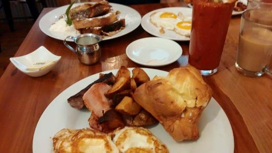 Rustic Roots: Popover , Rustic breakfast and bloody mary .
