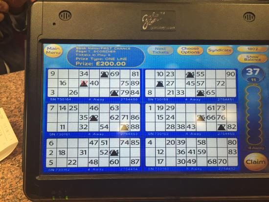 London, UK: Bingo Touch Pad