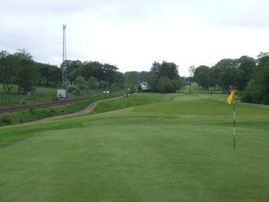 West Calder, UK : The view back to the 17th tee.