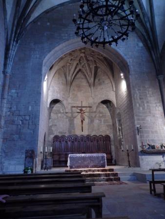 Basílica de la Peña, Graus, interior.