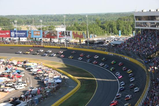 Turn one at charlotte picture of charlotte motor for Charlotte motor speedway nascar experience