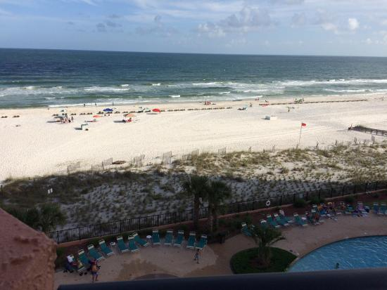 SeaChase : Our view from our condo on the sixth floor. The last one is on the treadmill where you can watch