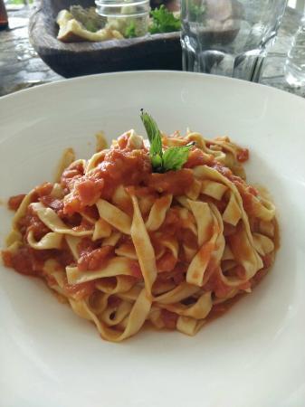 Posada Margherita: tomato pasta, the best!