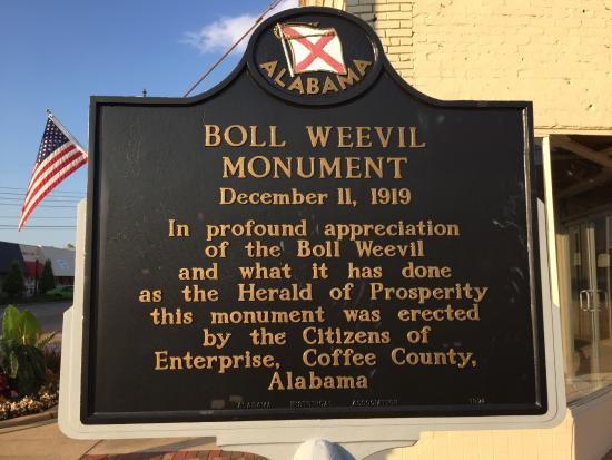 Boll Weevil Monument Plaque