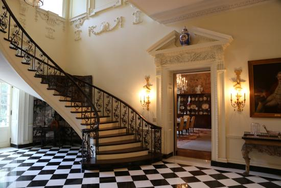Swan House From The Entry Way A View Of Spiral Staircase And Into