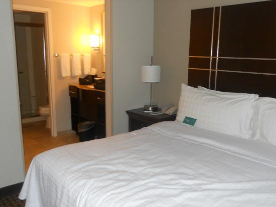bedroom looking into bathroom picture of homewood suites by hilton rh tripadvisor com