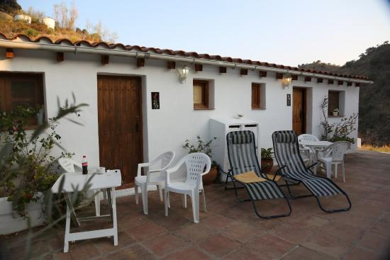 Casa Patricia: Rooms and Sun bathing area