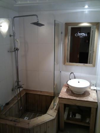 Hotel Charis: Toilet