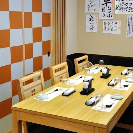Tsukiji Kagura Sushi: テーブル席