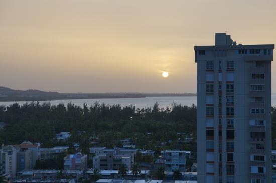 Playa Azul: Sunset from the 19th floor