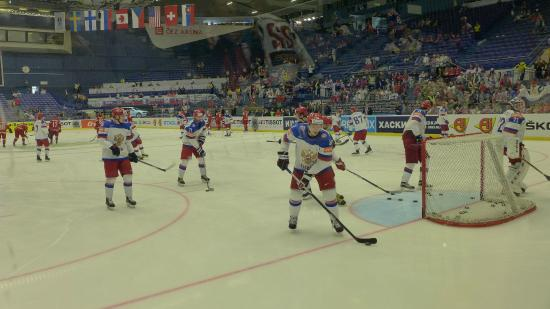 Ostravar Arena: Раскатка сборной России ЧМ-2015