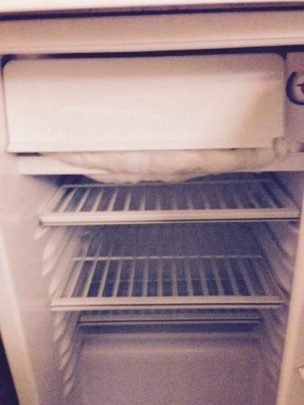 The fridge in the Sage Hills Motel,Cache Creek,BC