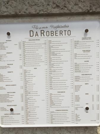 Pizzeria Da Roberto: Donnerstag Ruhetag��