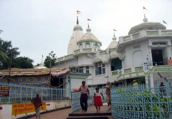 ISKCON Temple: outside of the temple