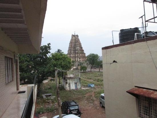 Padma Guest House : View from room - Virupaksha temple