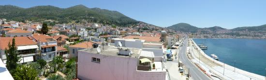 Samos City Hotel: Panoramic of the town from the roof, including what will be the new Promenade