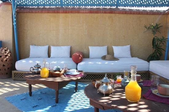 Riad Arocha: Terrasse avec Pergola