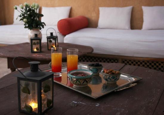 Riad Arocha: Terrasse