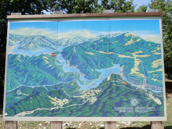 Map of the area  Picture of Plitvice Lakes National Park