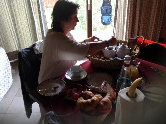 Agriturismo La Sforzata : Colazione in camera