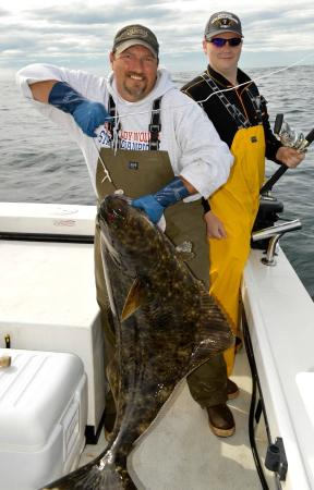Sitka Point Lodge & Fishing Charters: 80 pound Halibut