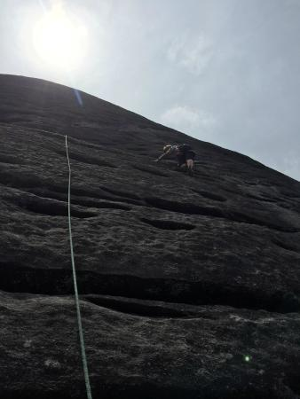 Fox Mountain Guides and Climbing School: Nearing the top.
