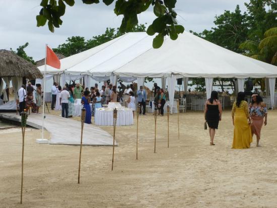 Sandals Negril Beach Resort Spa Wedding Reception