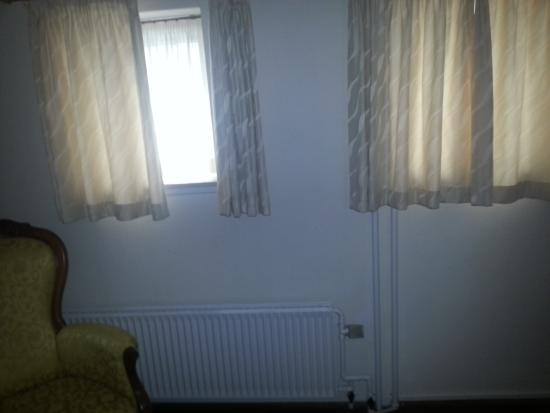Little windows in the room - kept curtains closed so guests in ...