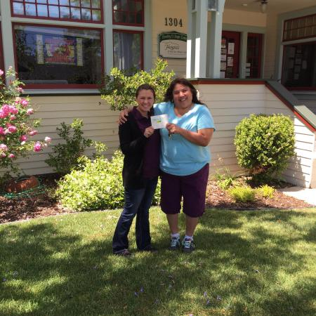 Penny's All American Cafe': We presented a check over $4000 to SLO Hospice. I put WE in there because as a community and our