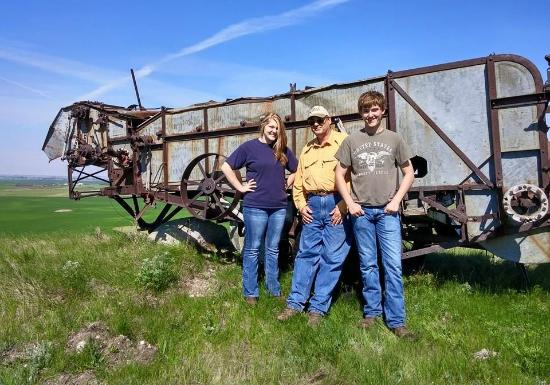 Napoleon, ND: Walk right up and get close to a prairie dinosaur (old-time threshing machine)