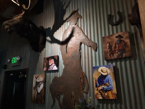 The Gambling Cowboy : Art on the wall