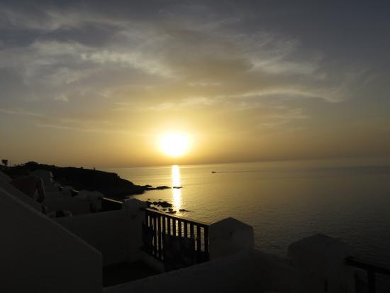 كافوس باي هوتل آند ستديوز: Sunset from the balcony of the hotel